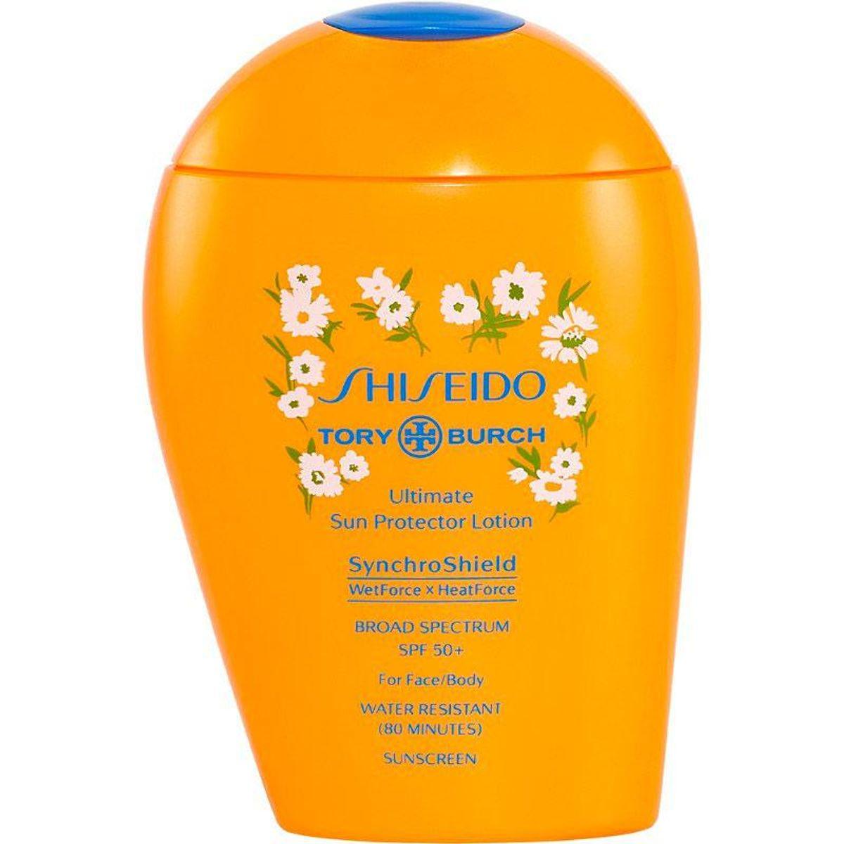 shiseido x tory burch ultimate sun protector lotion spf 50 plus sunscreen