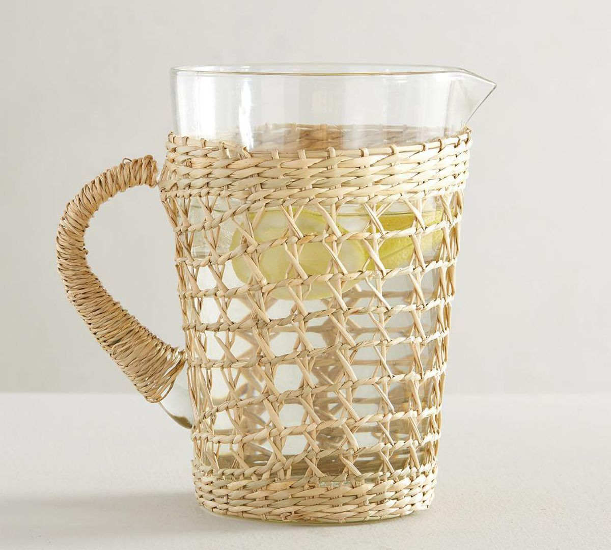Cane Recycled Glass Pitcher