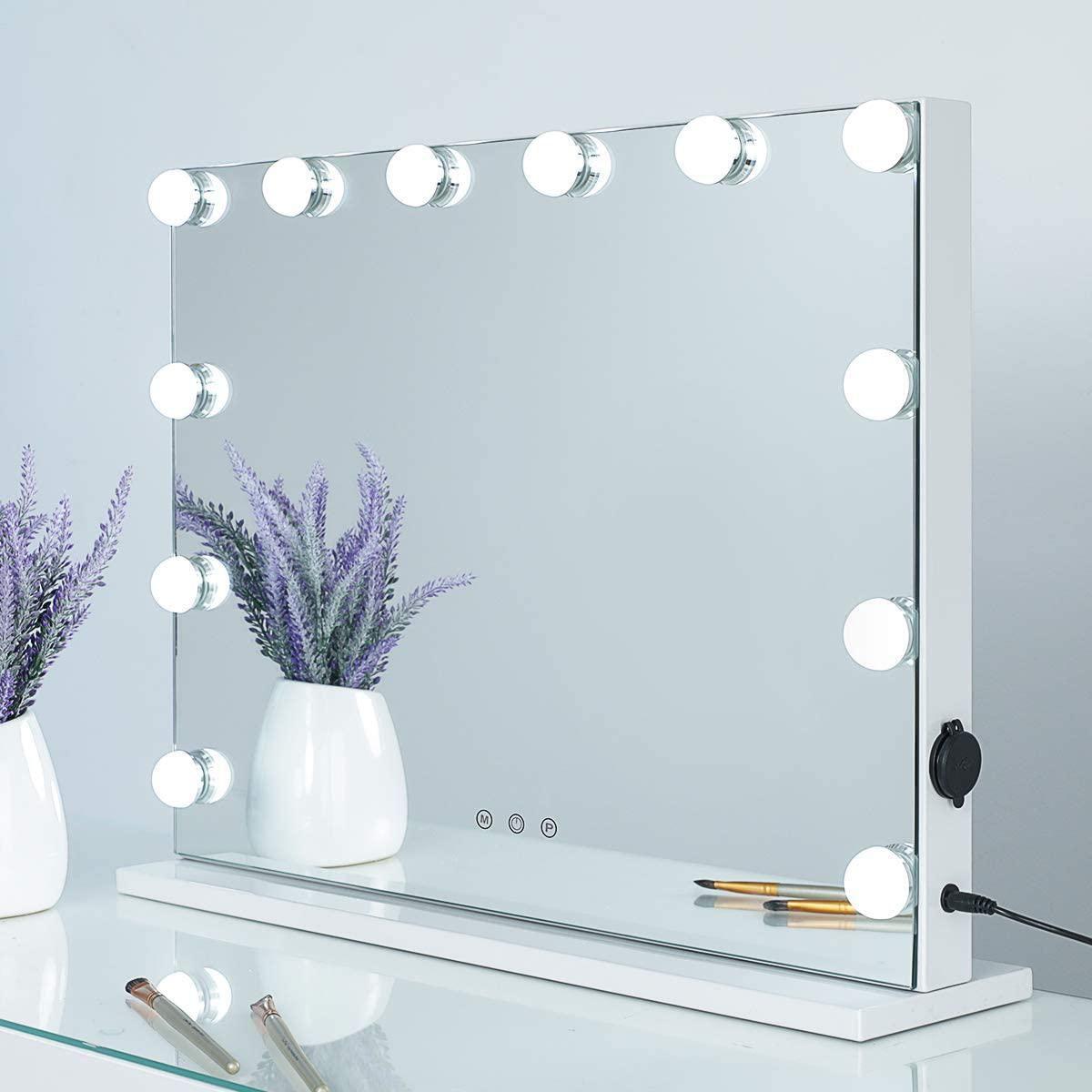 showtimez vanity mirror makeup mirror with lights