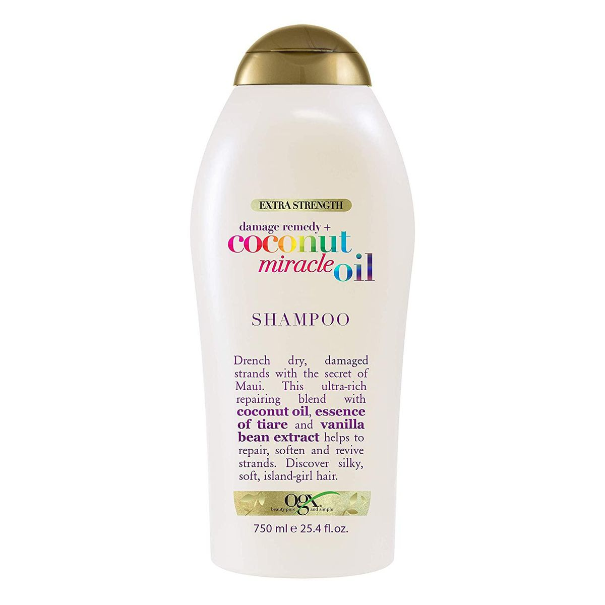 ogx extra strength damage remedy and coconut miracle oil shampoo