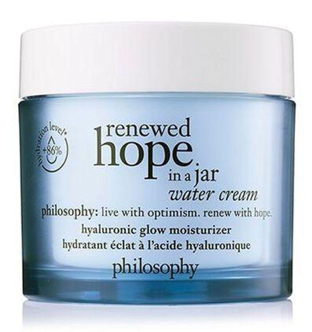 philosophy renewed hope in a jar water cream hyaluronic glow moisturizer
