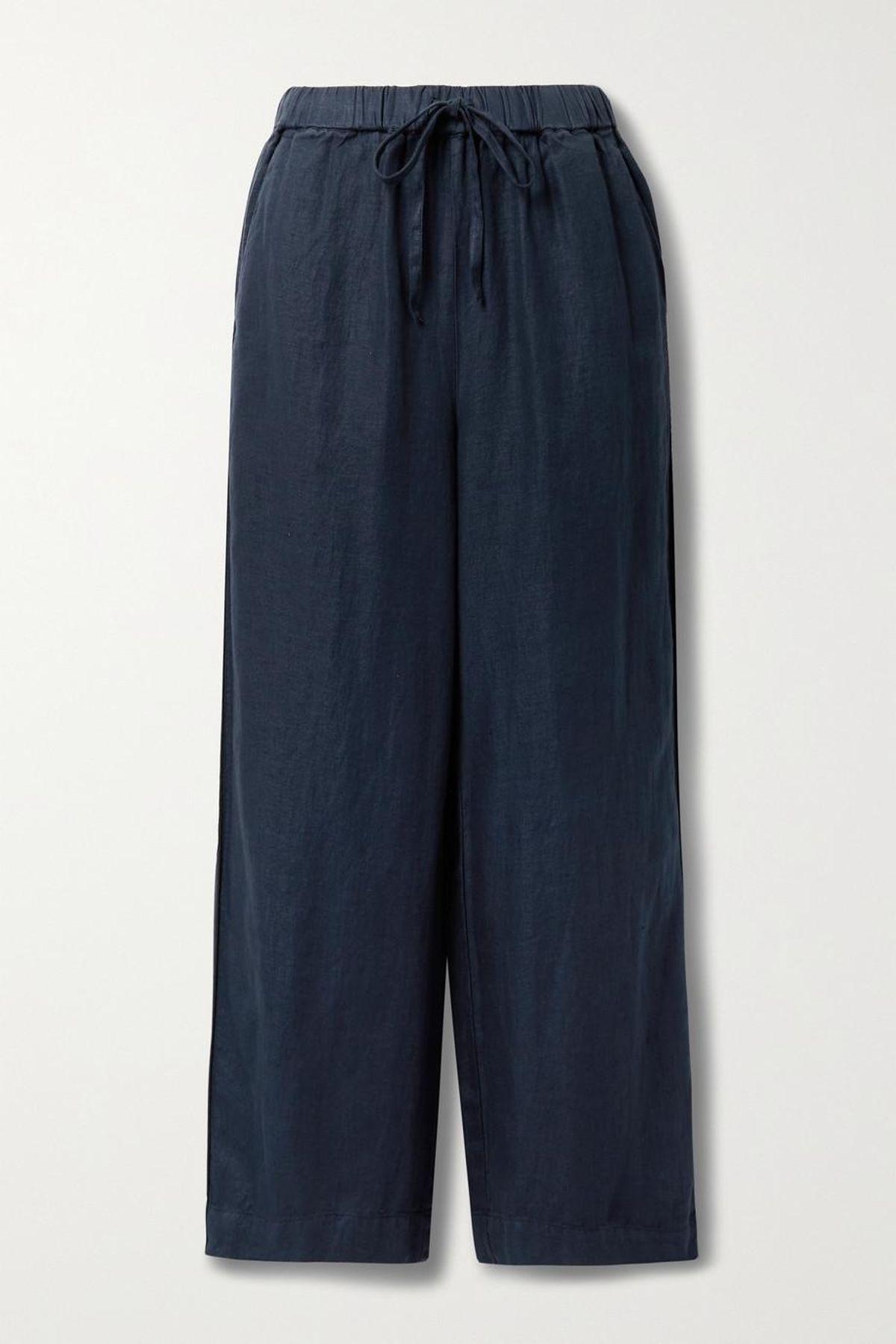Polly Linen Twill Wide Leg Pants