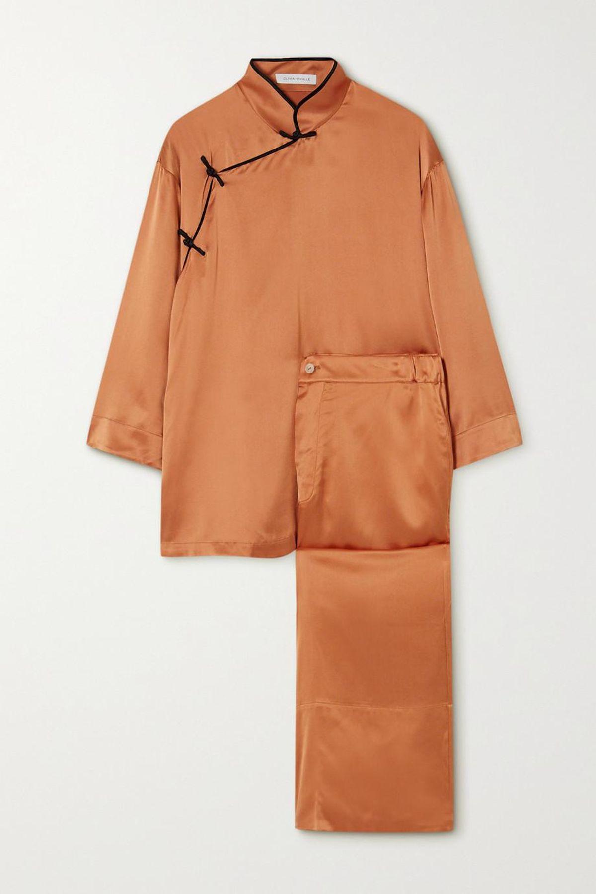 Harlow Silk Satin Pajama Set