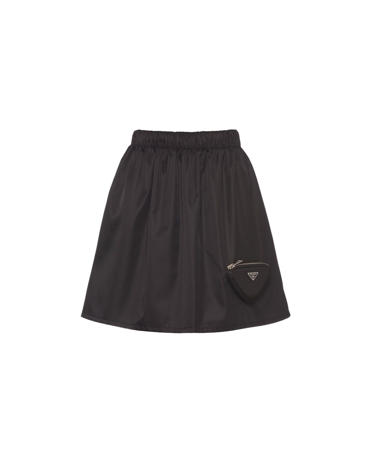 re nylon miniskirt with pouch