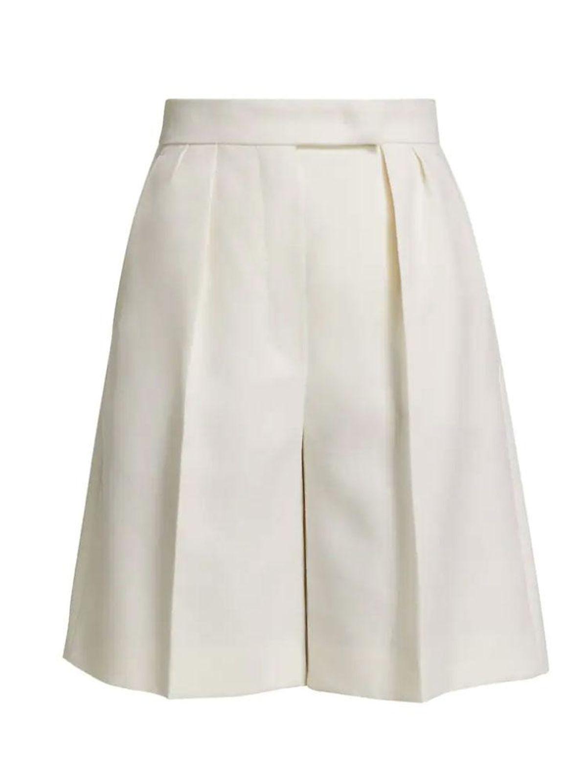 max mara rosi linen wide leg tailored shorts