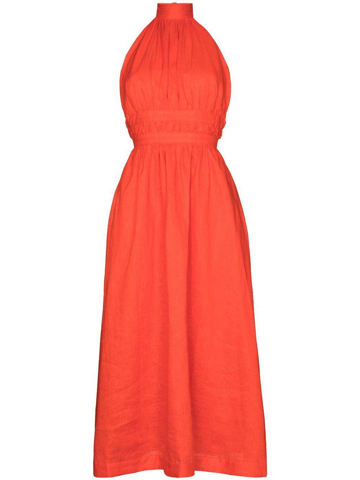 Shelly Halterneck Midi Dress