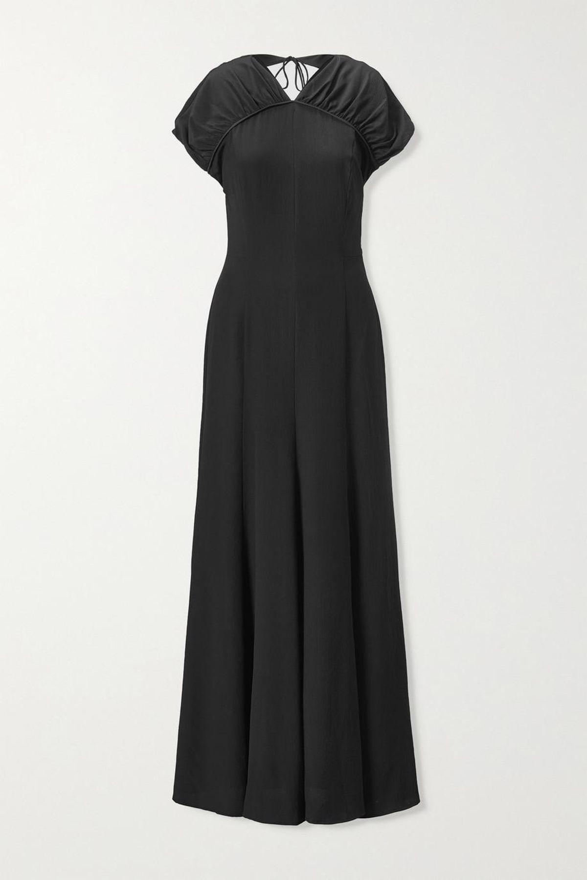 Yves Open-back Silk-crepe Maxi Dress
