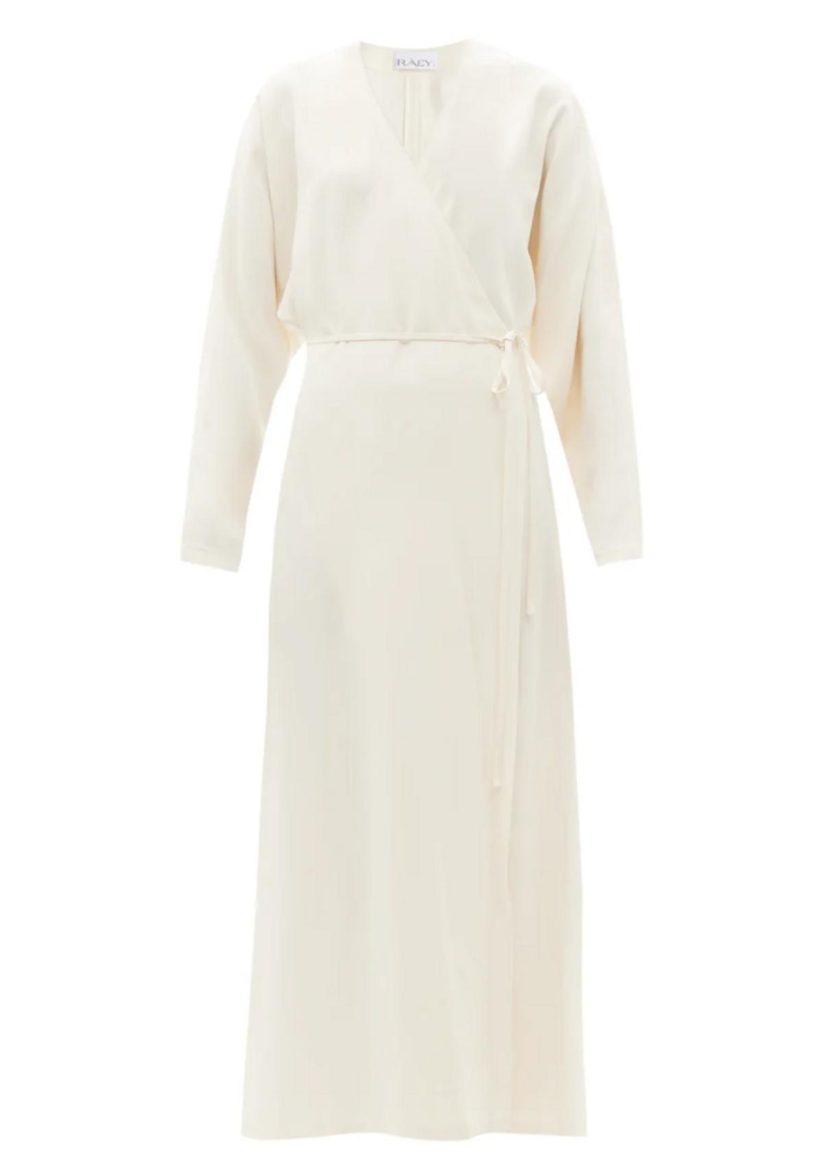 Dolman-sleeve Side-split Wrap Dress