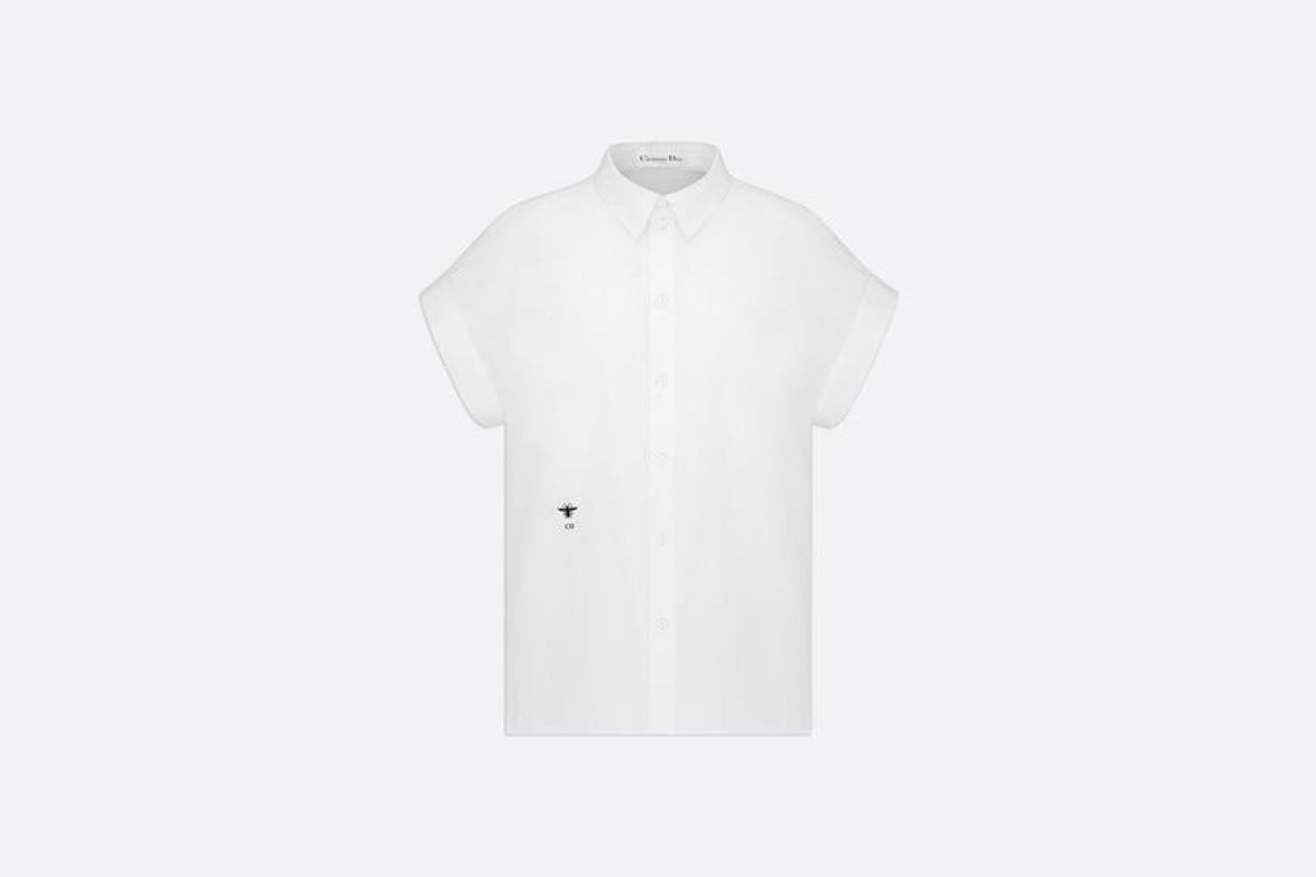 Shirt with Buttoned Collar