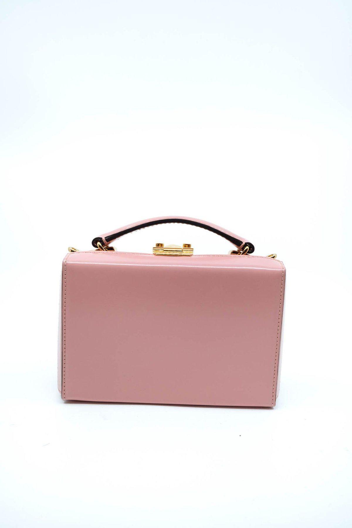 'Grace' Mini Leather Box Bag
