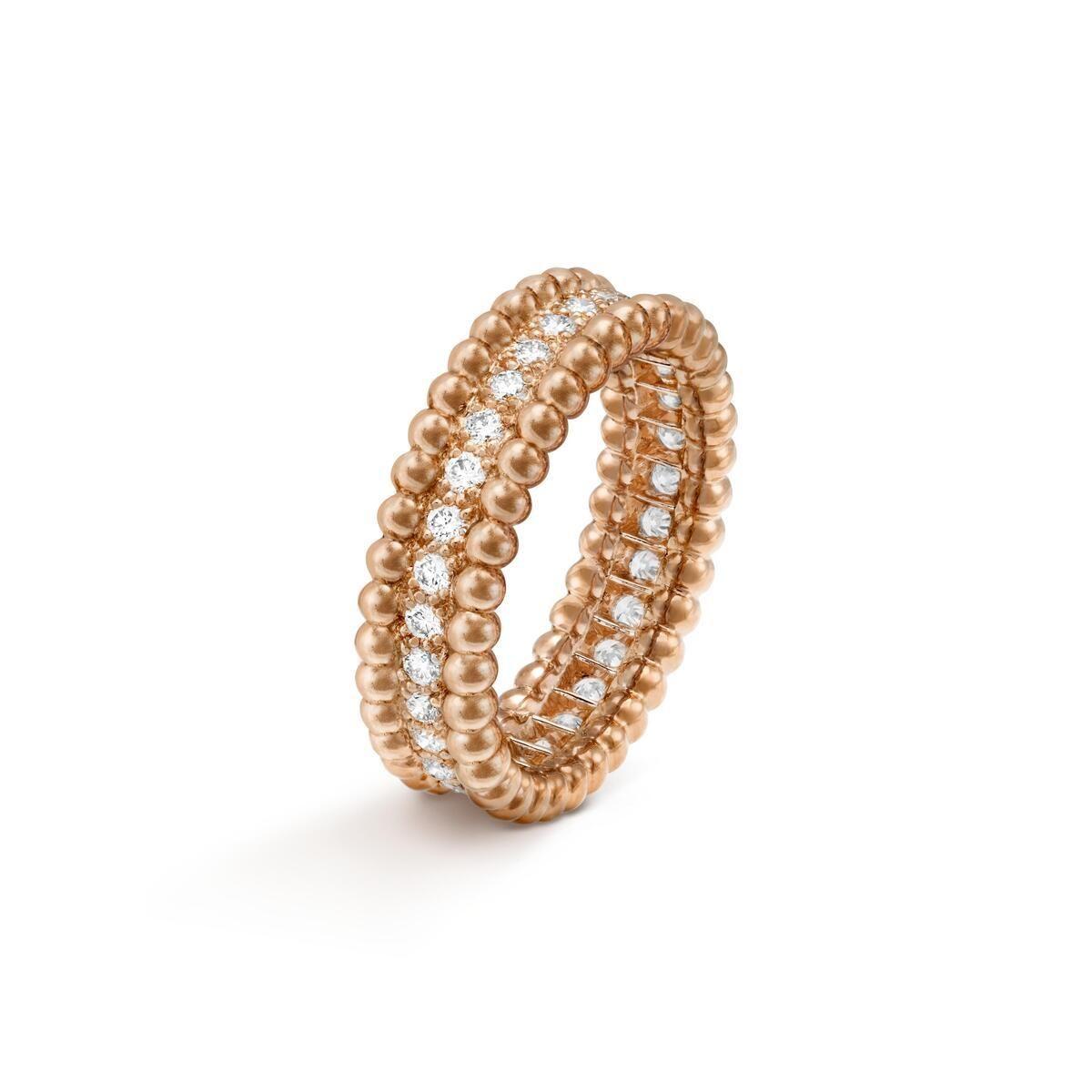 Perlée Diamonds Ring, 1 Row
