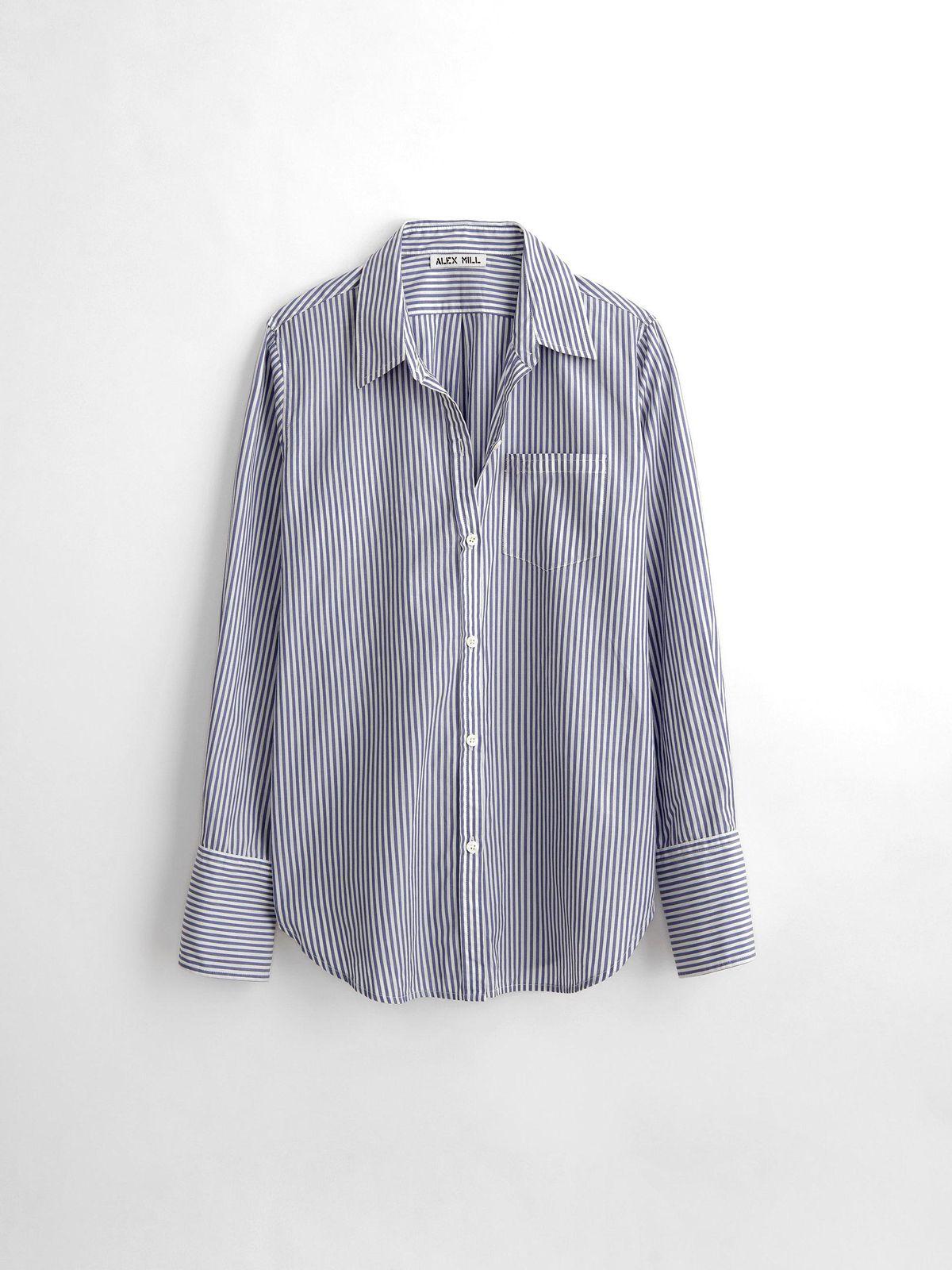 alex mill wyatt shirt in bi stripe