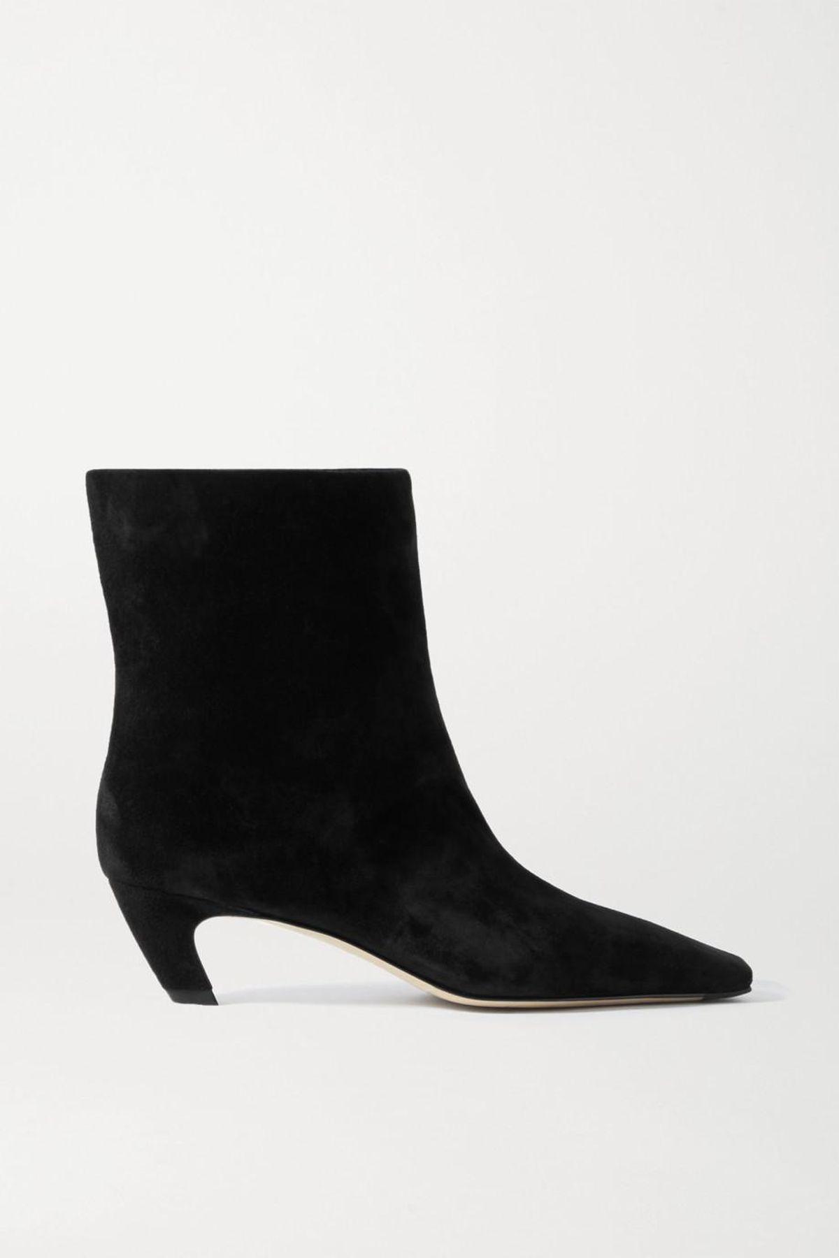 khaite arizona suede ankle boots