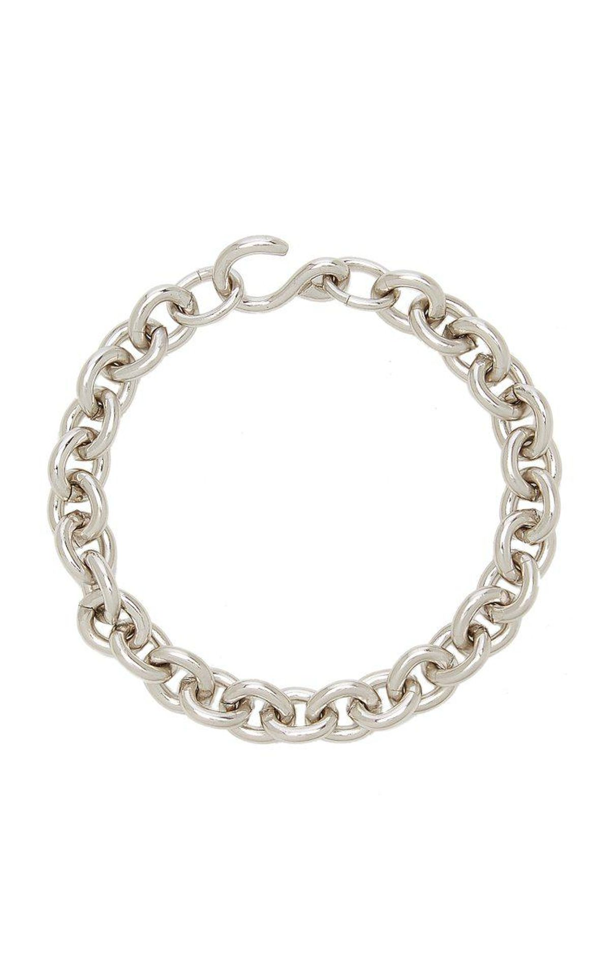 wolf circus marina rhodium plated chain bracelet