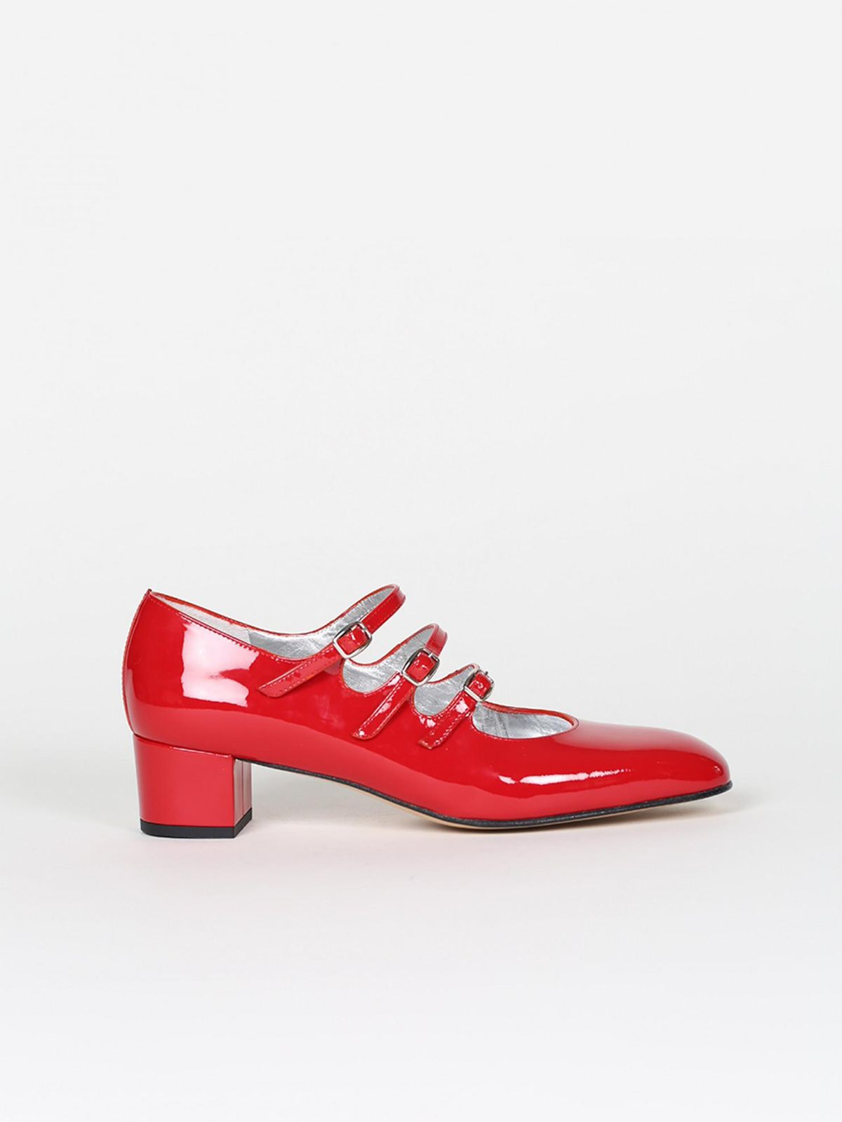 carel paris red patent leather mary janes