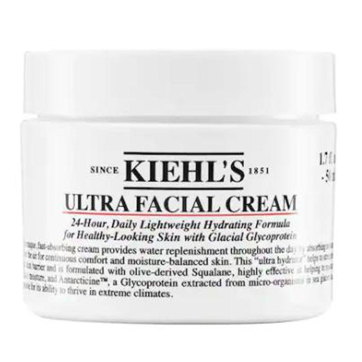 kiehls ultra facial moisturizing cream with squalane