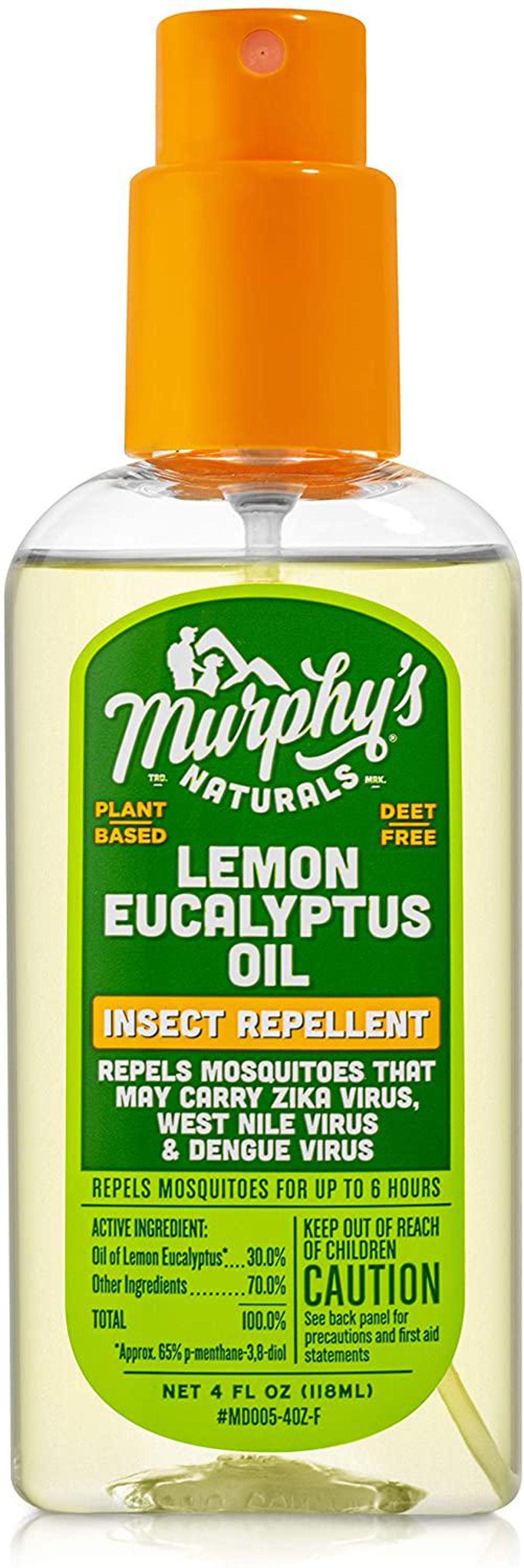 murphys naturals lemon eucalyptus oil insect repellent spray