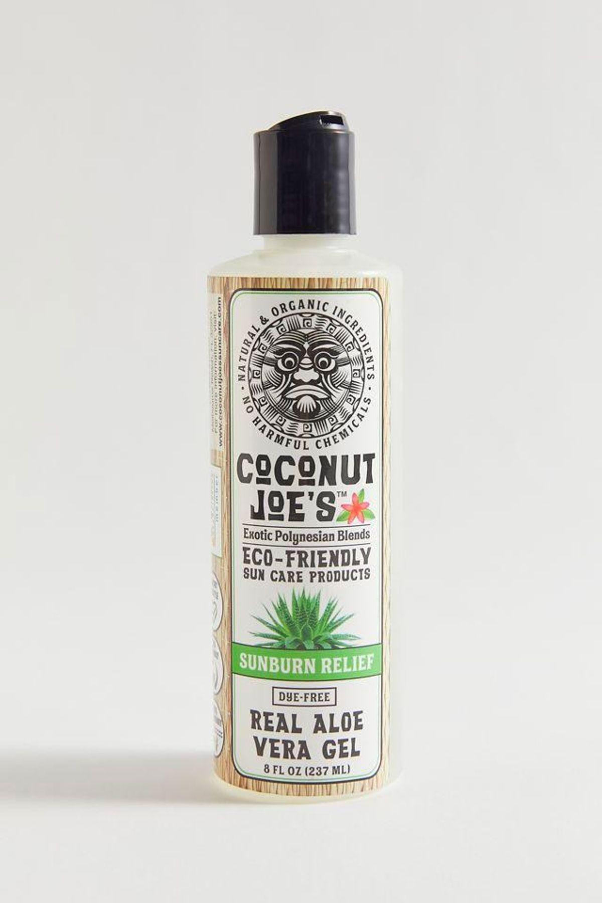 coconut joes sunburn relief real aloe vera gel
