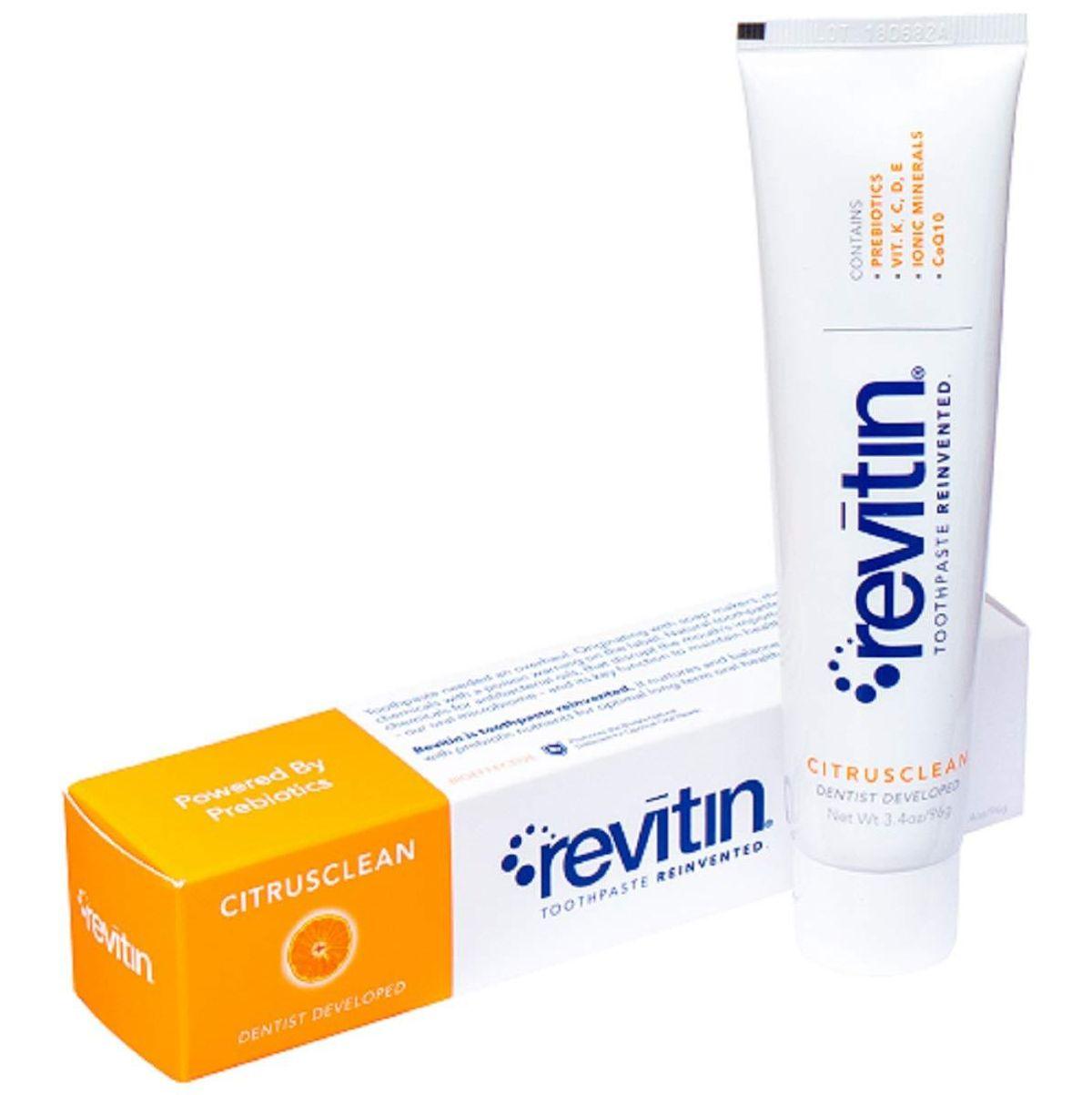 revitin natural prebiotic oral care toothpaste