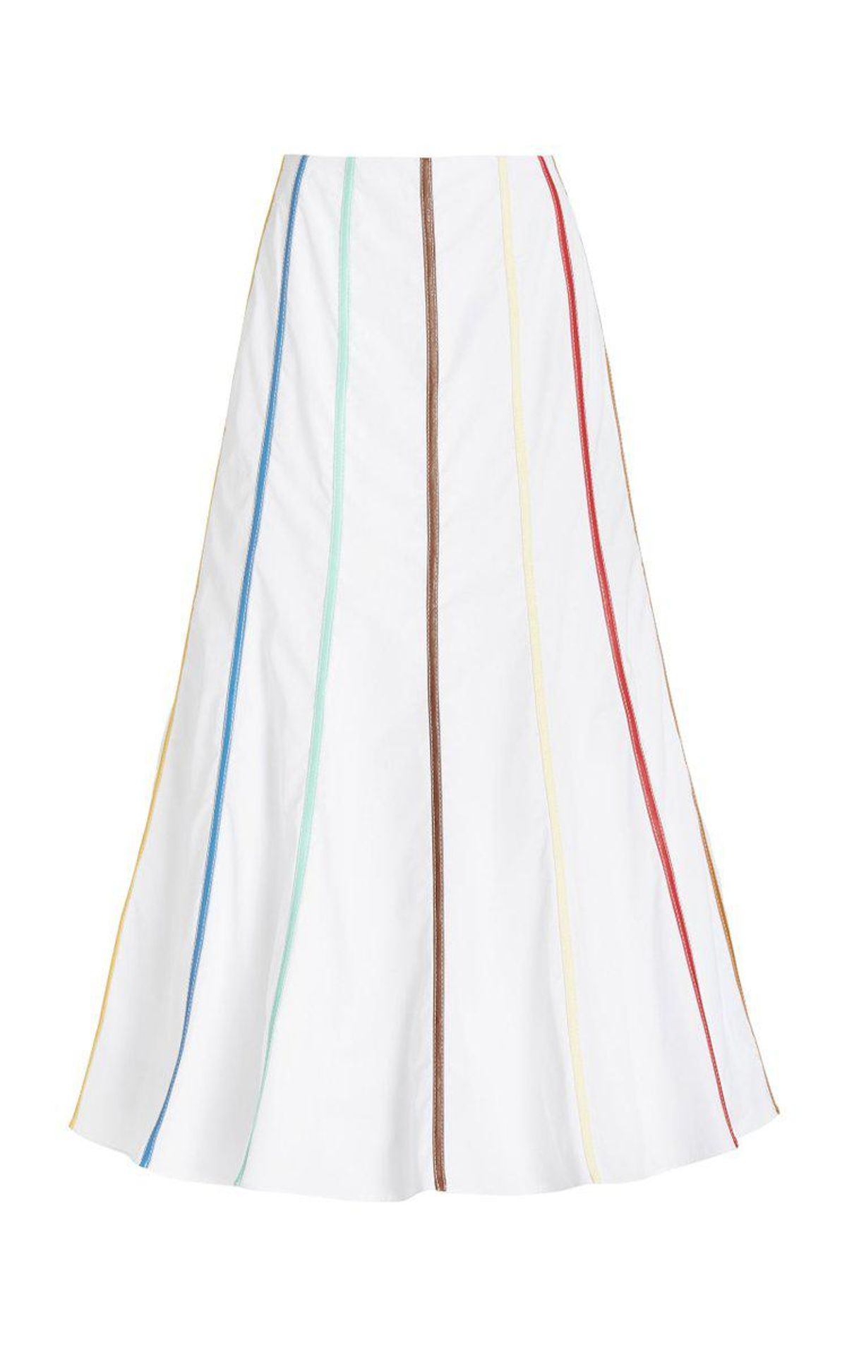 Faux Leather-trimmed Cotton Maxi Skirt