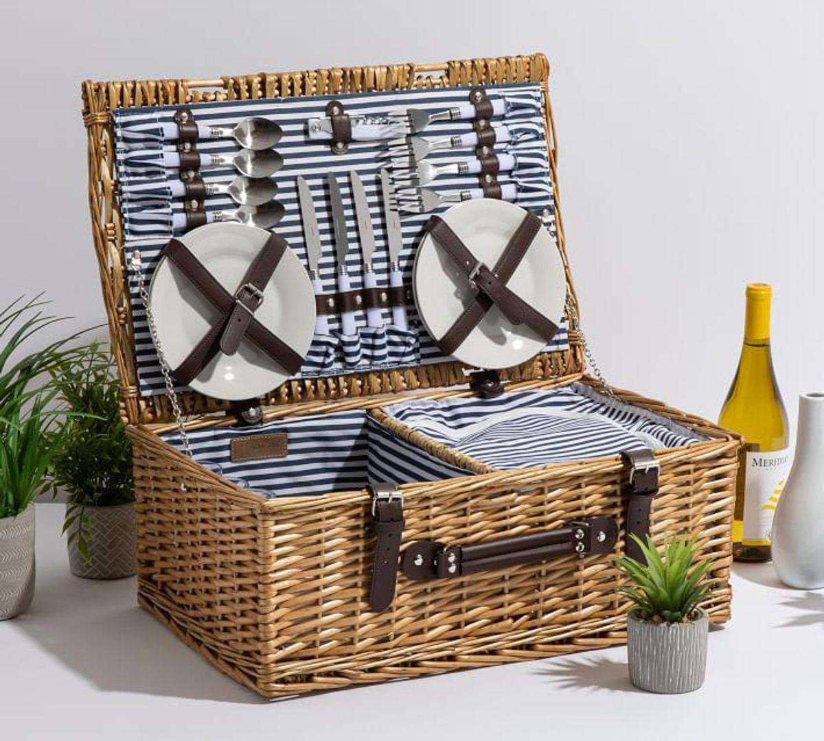 pottery barn providence woven picnic baskets
