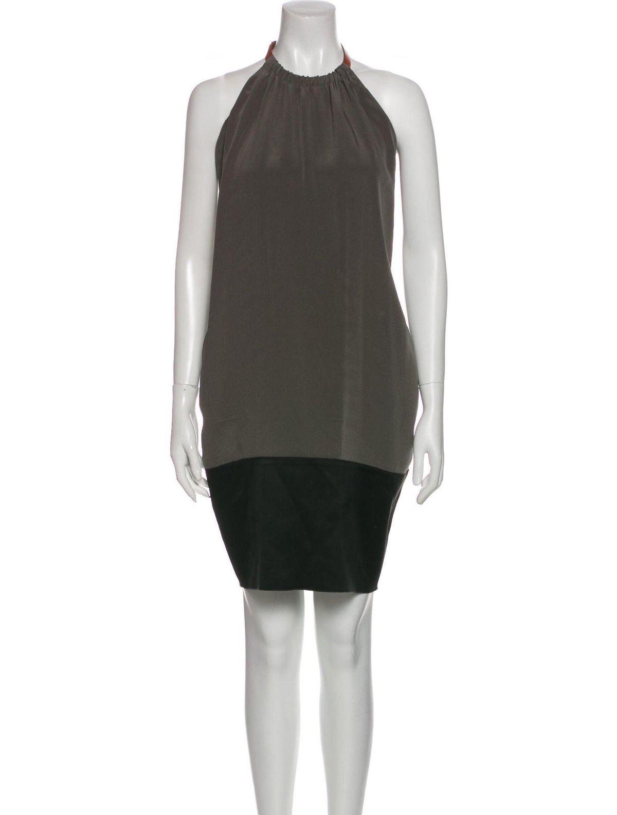 celine halterneck knee length dress
