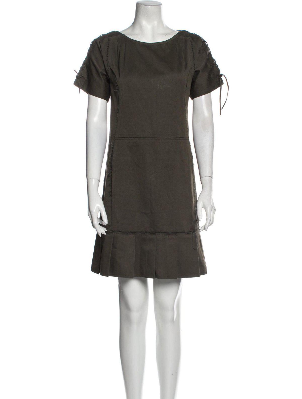 yves saint laurent crew neck mini dress
