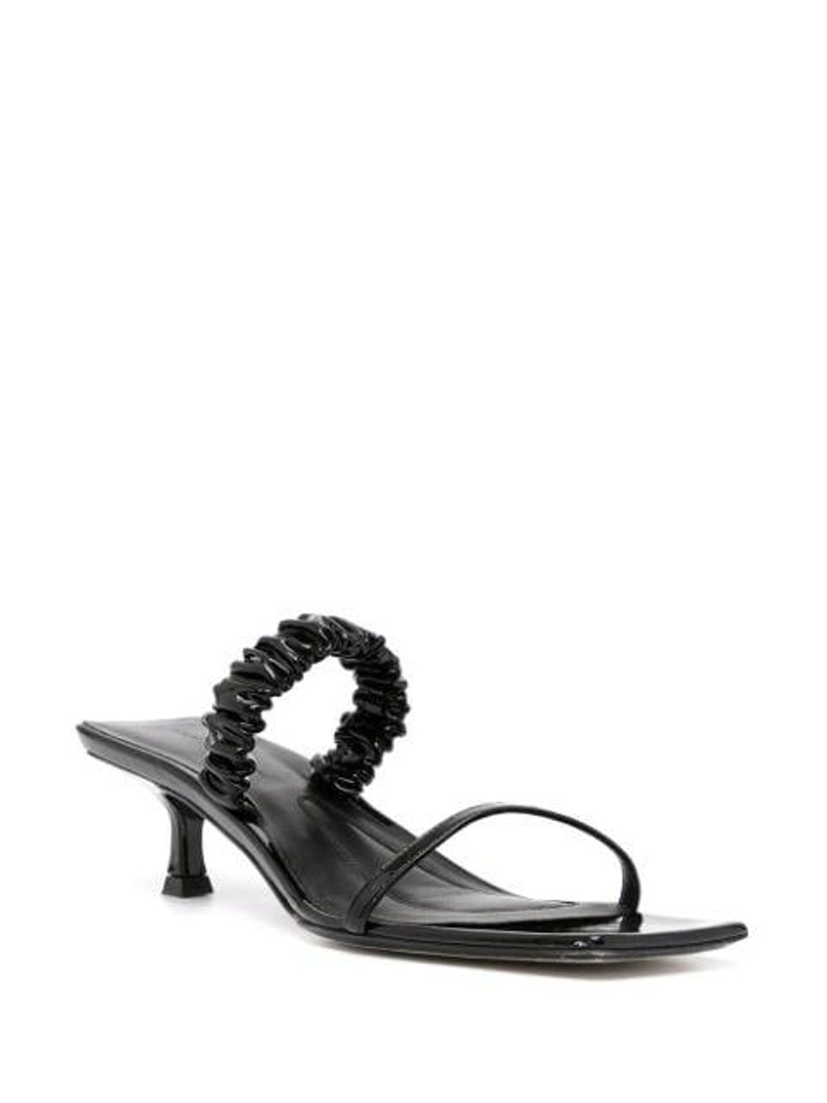 Ruched Square Toe Sandals
