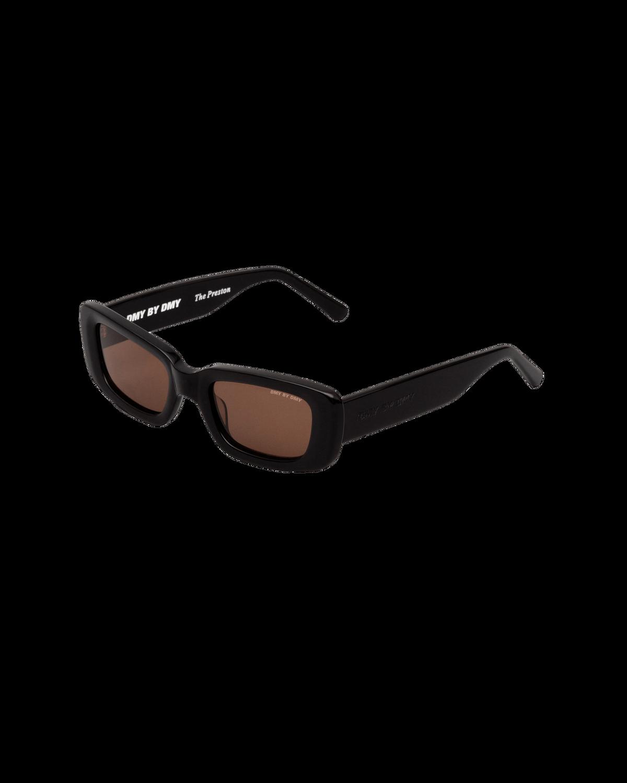 Preston Black Rectangular Sunglasses