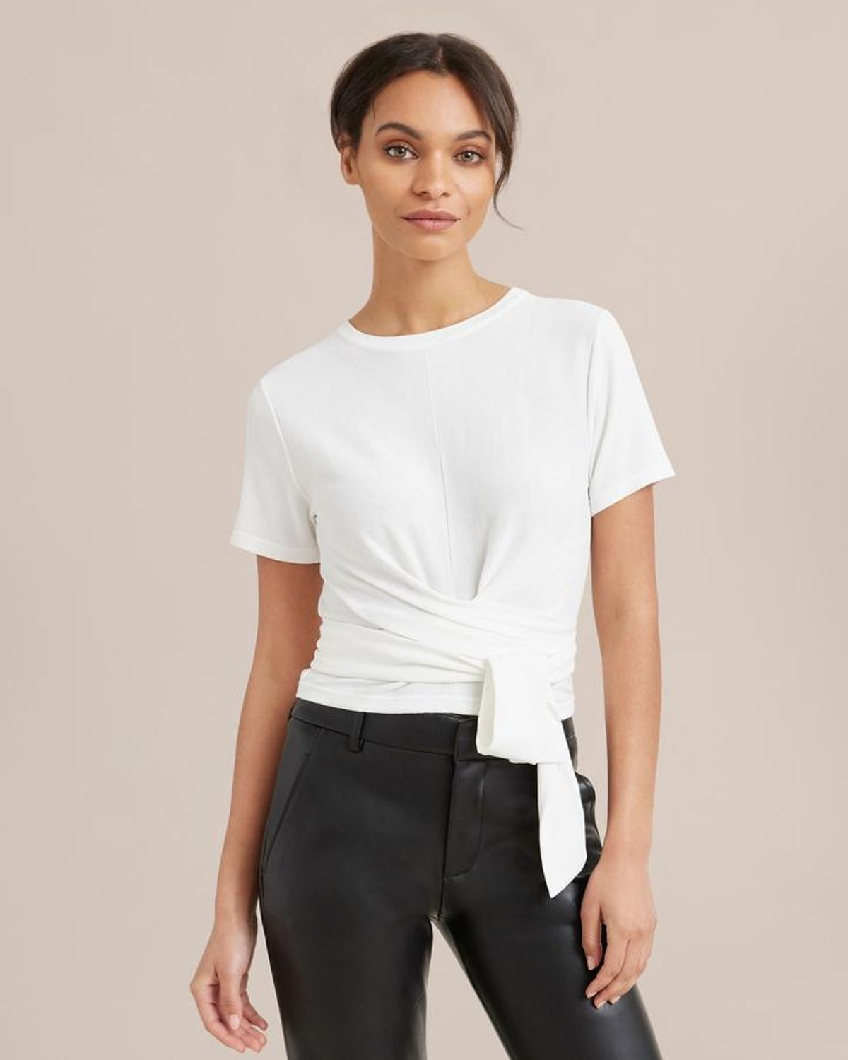 Jude Cropped Wrap Blouse