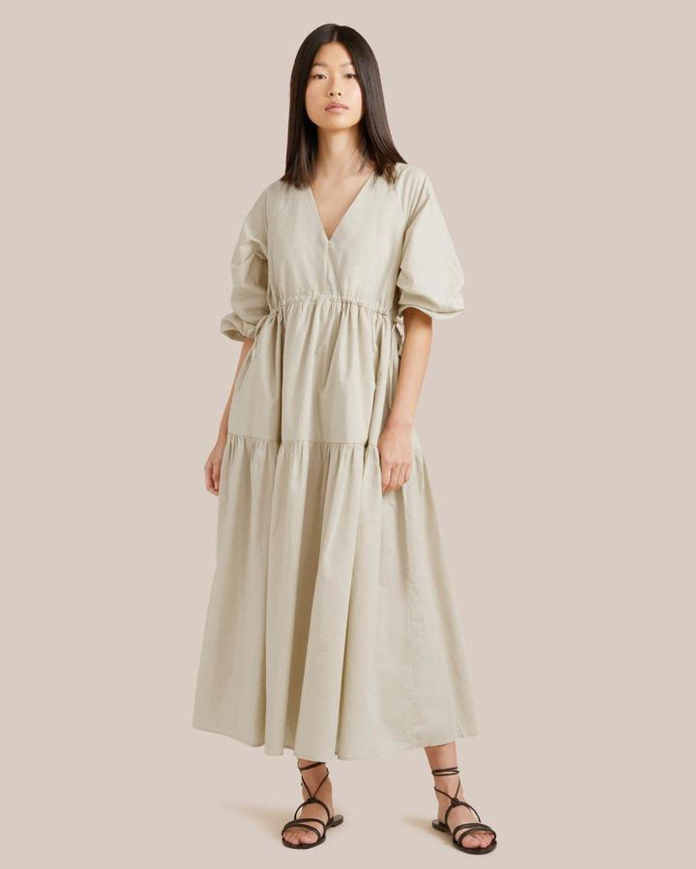 Lyra Organic Cotton Tiered Maxi Dress