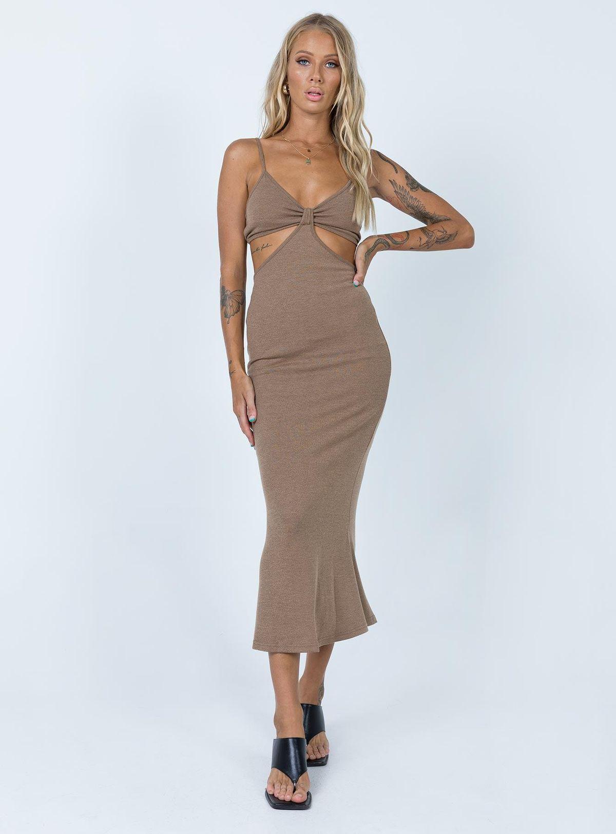 Jocelyn Cut-out Midi Dress