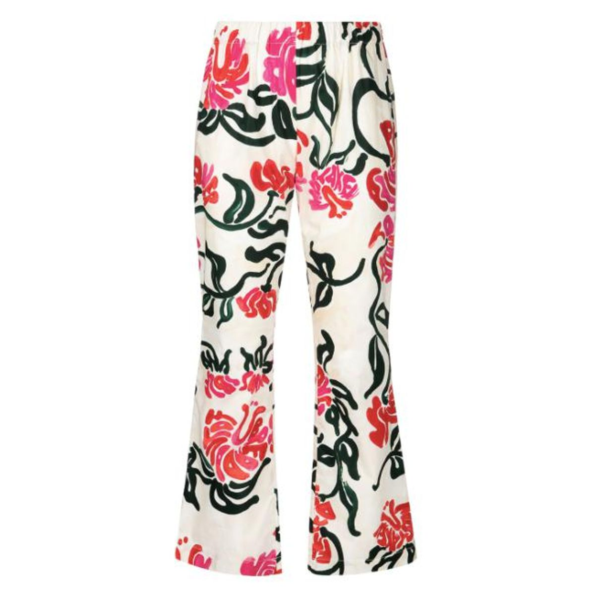 marni floral print bootcut trousers