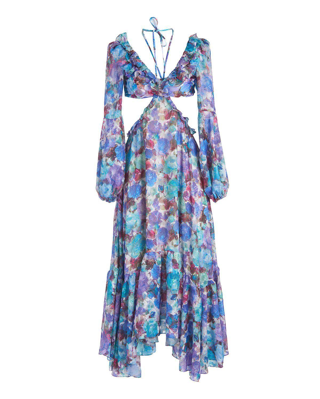 Blossom Cut-out Beach Dress