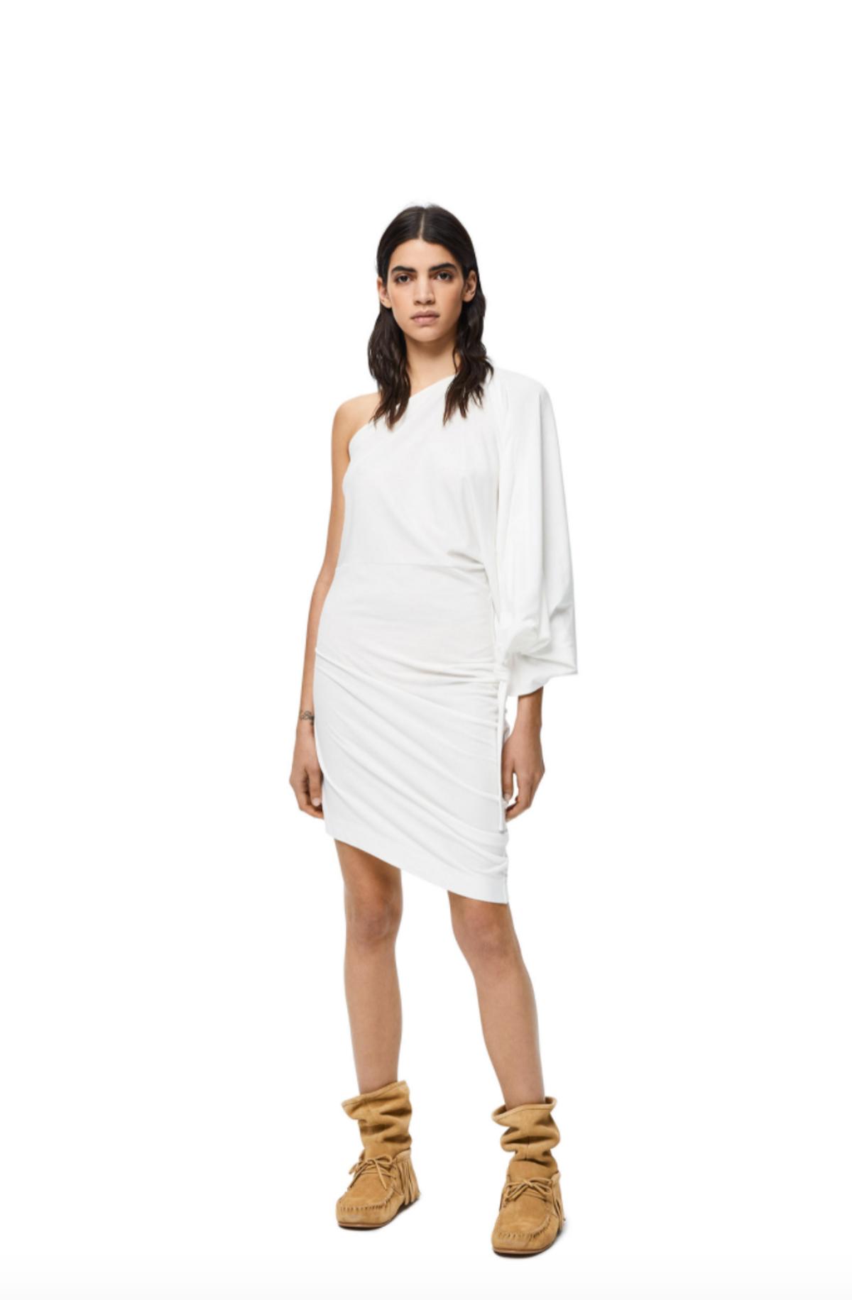Asymmetric Dress in Cotton Jersey