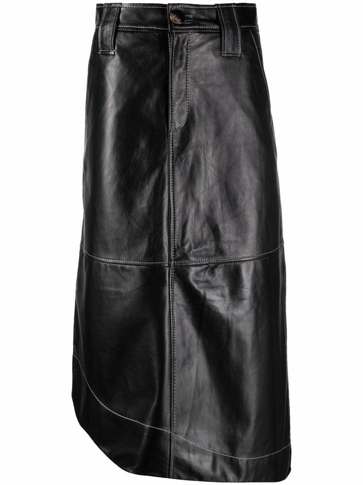 High-waisted Leather Skirt