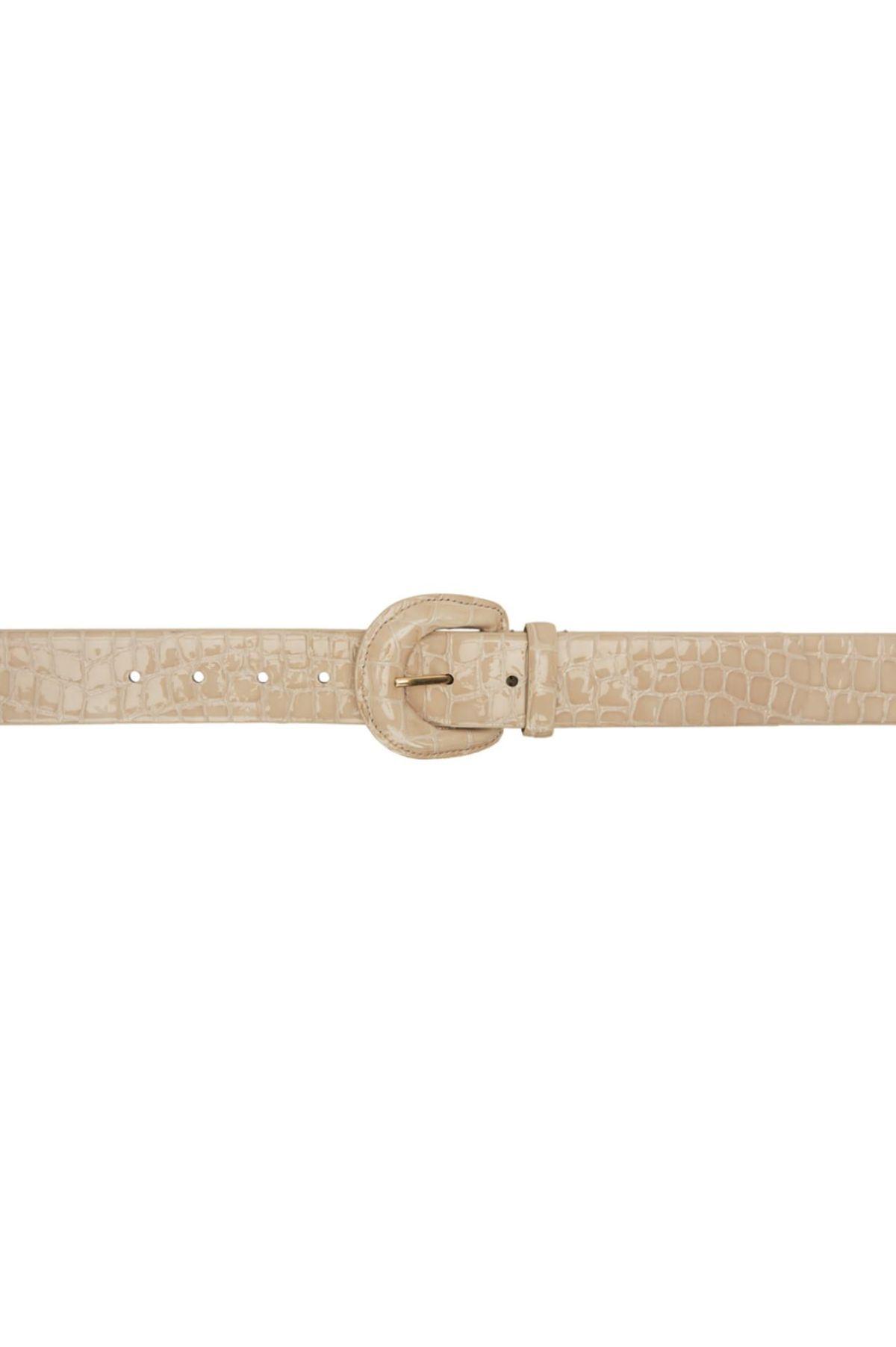 Judy Embossed Leather Belt