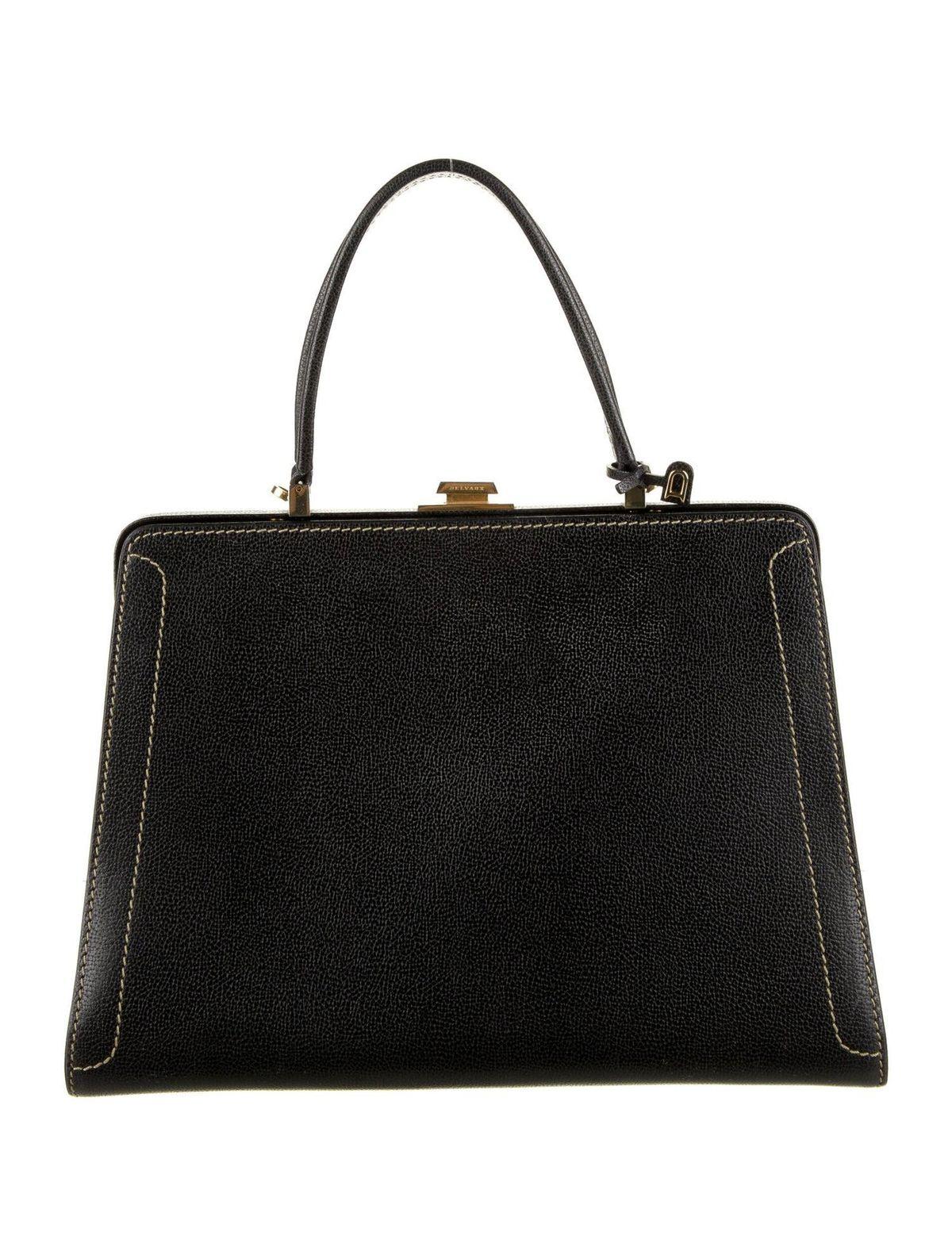 Vintage Leather Frame Bag