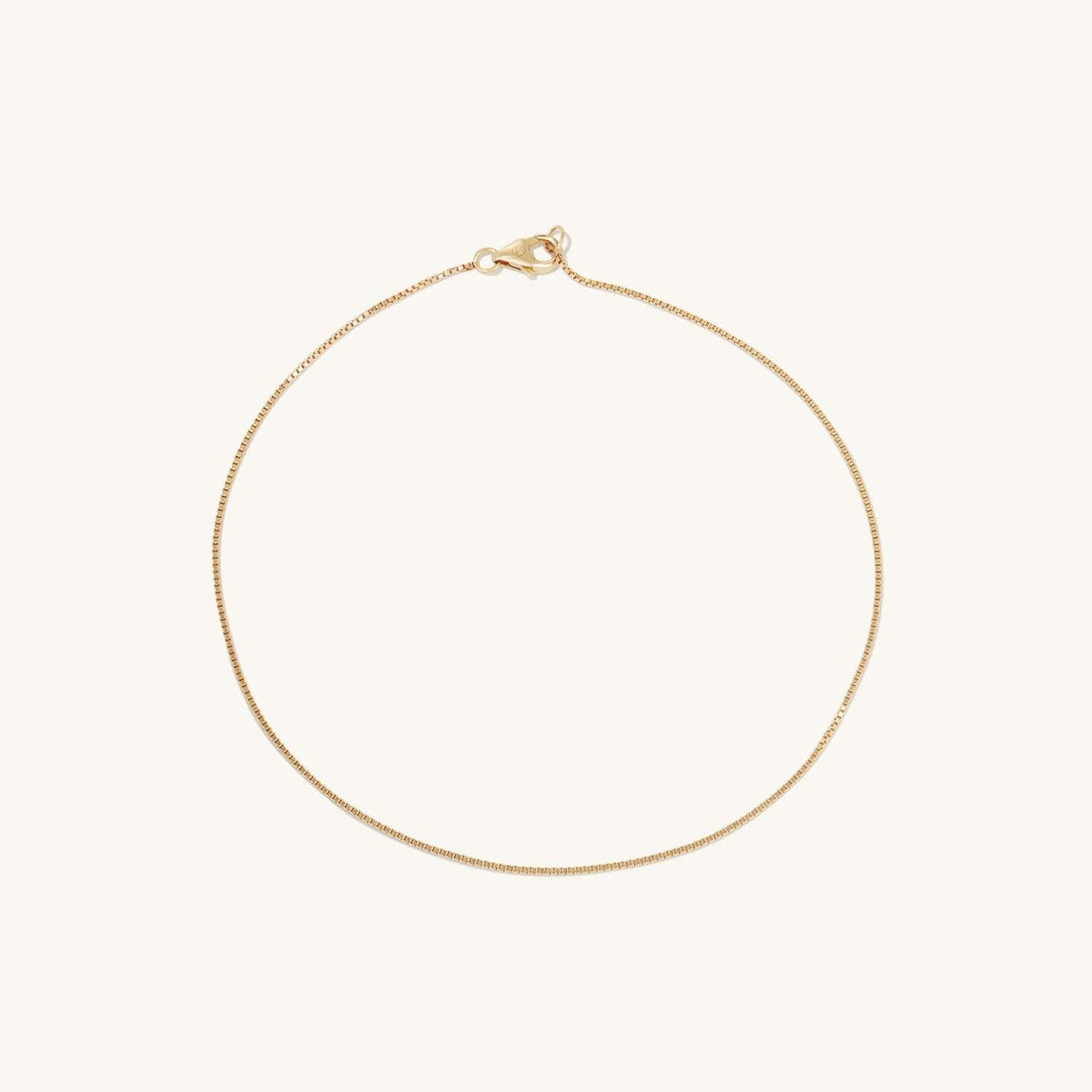 mejuri baby box chain anklet