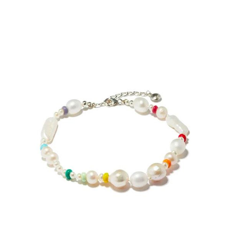 fry powers coco baroque pearl and sterling silver anklet