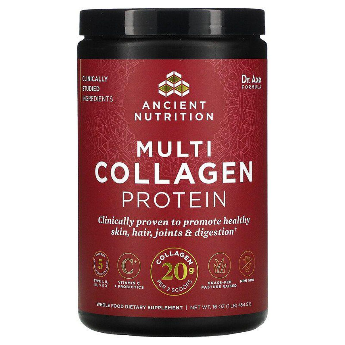 dr axe ancient nutrition multi collagen protein