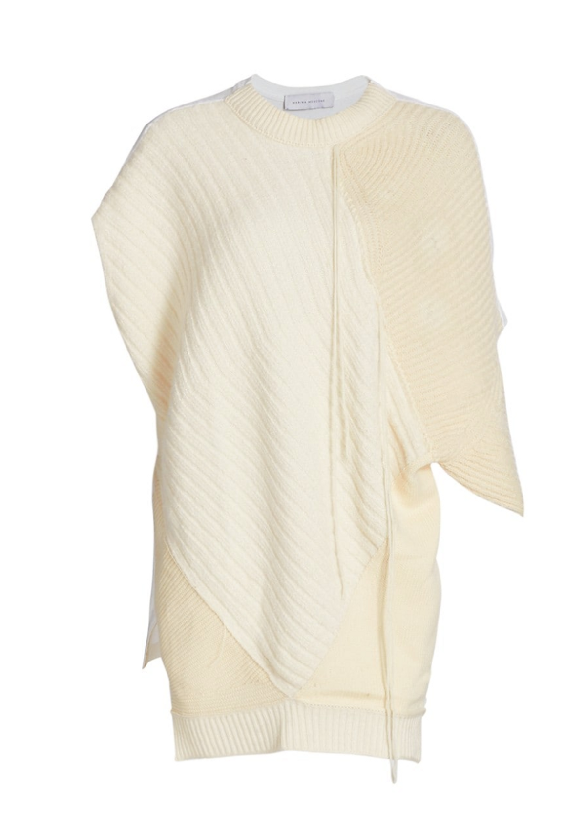 Cashmere & Silk Patchwork Pullover Top