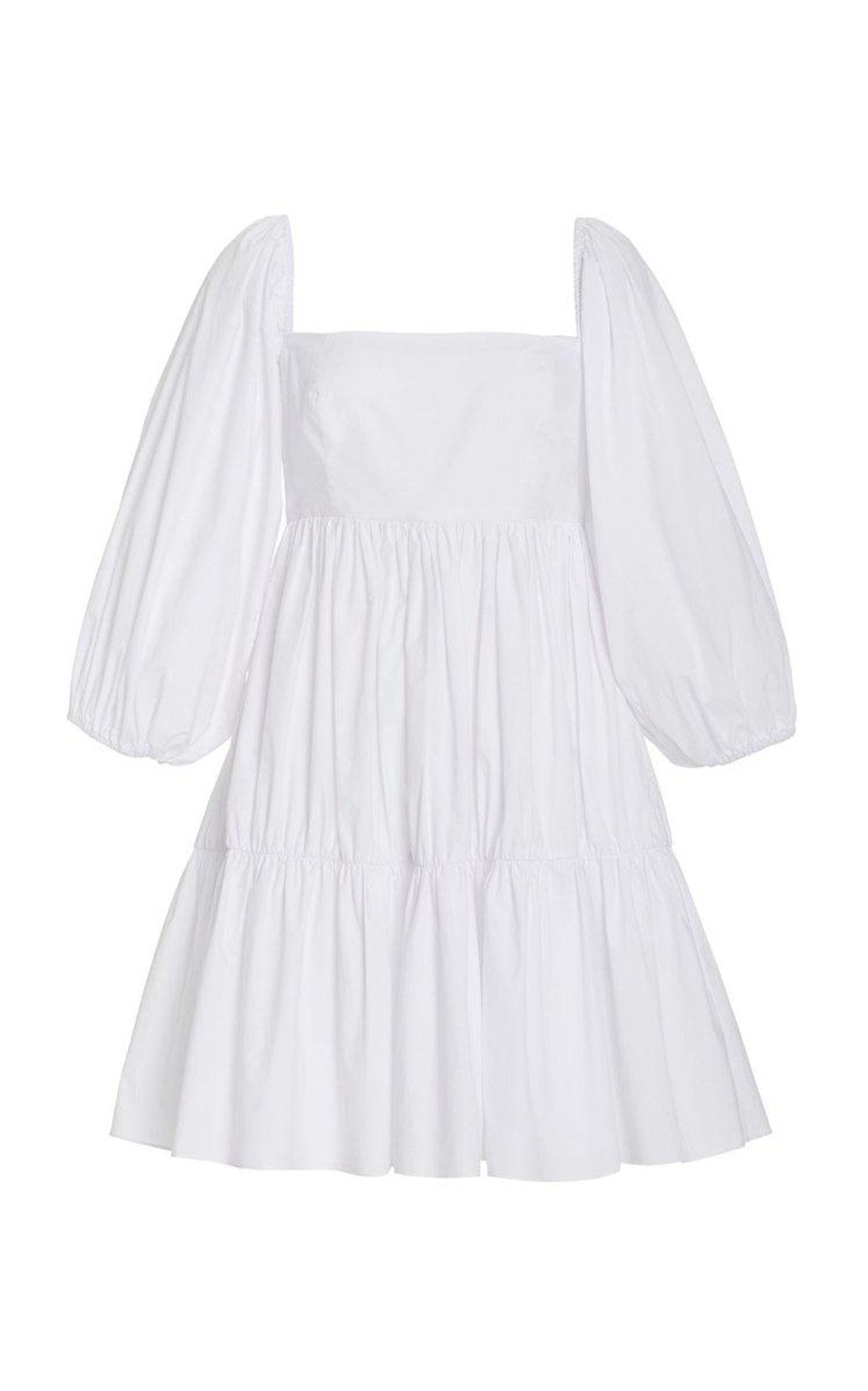 Cotton Sip Sip Tiered Cotton Poplin Mini Dress