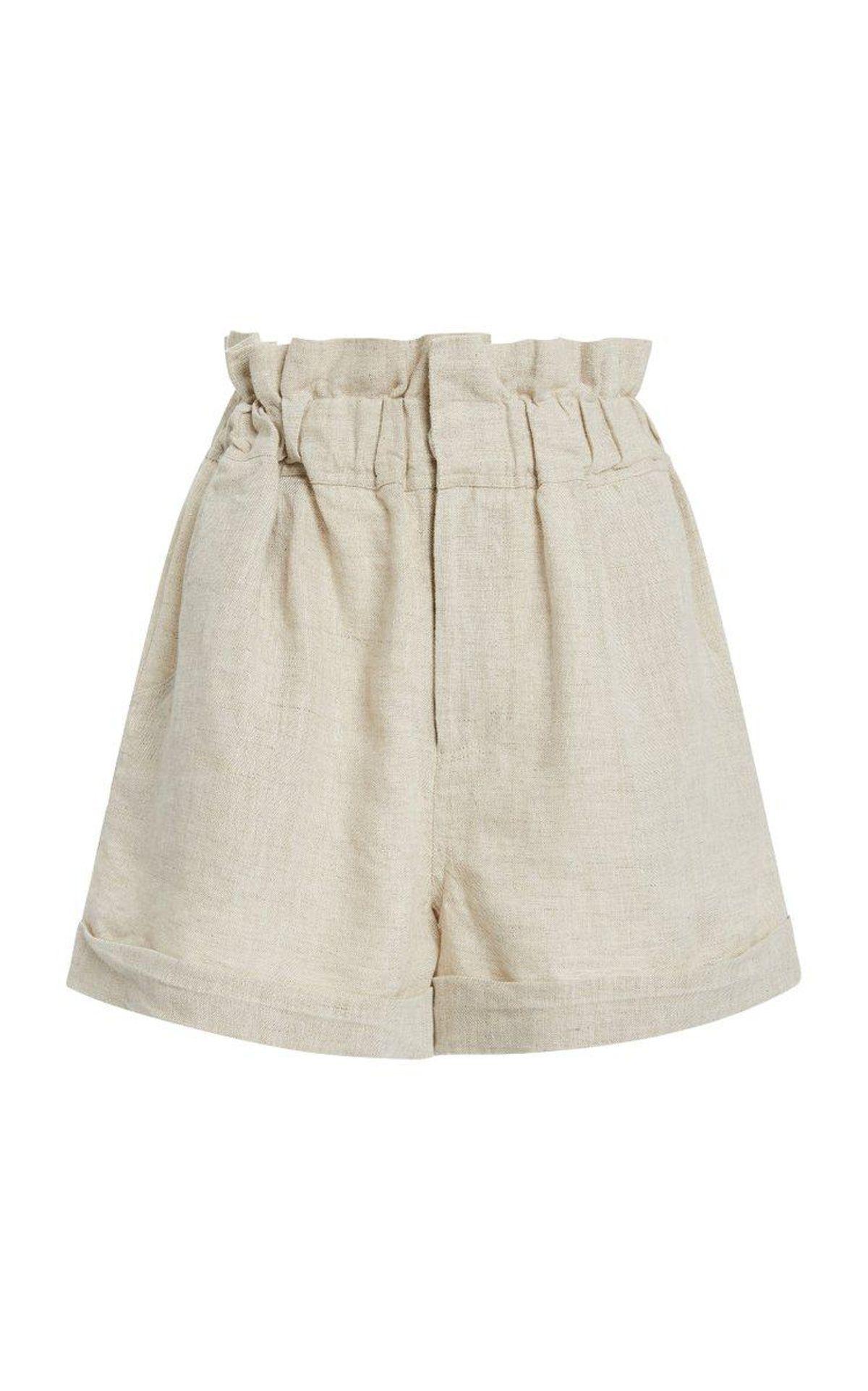 Ducky High Rise Linen Shorts