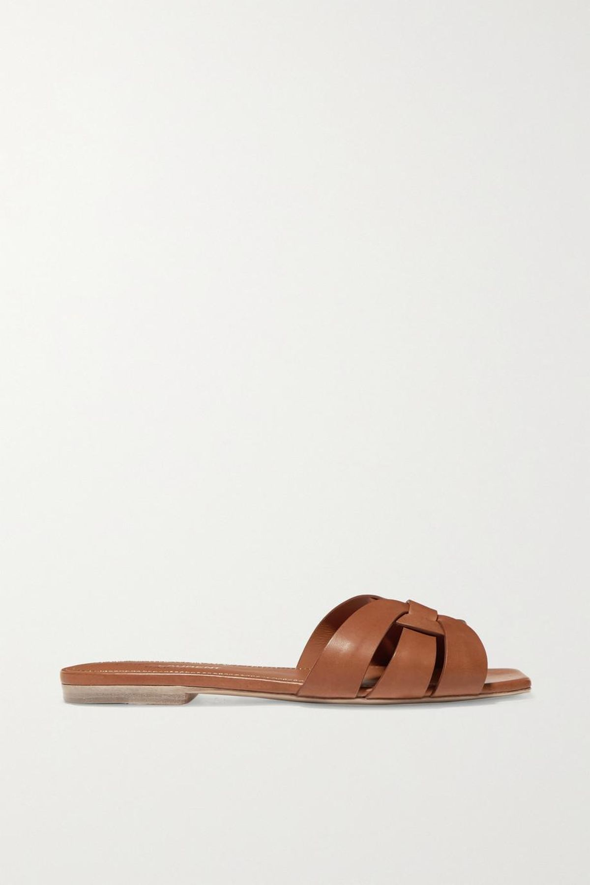 Nu Pieds Woven Leather Slides