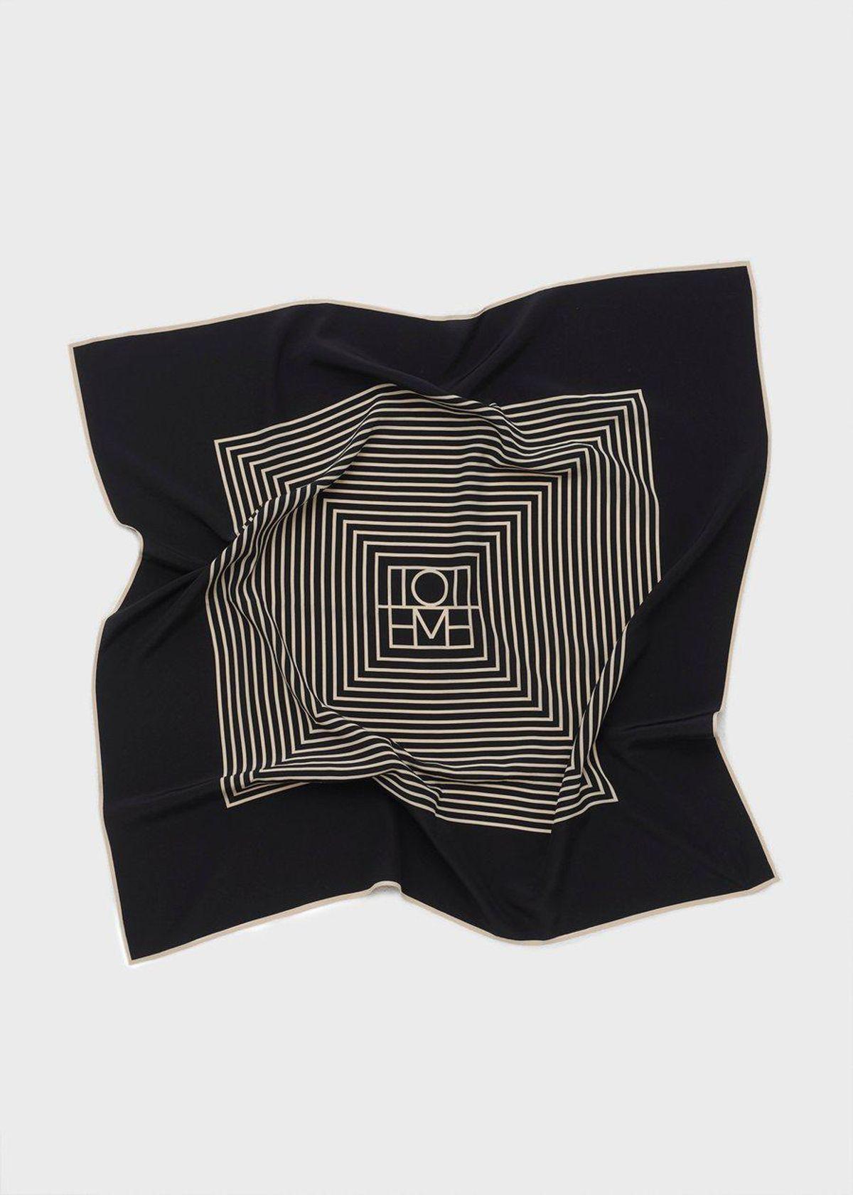 Centered Monogram Silk Scarf