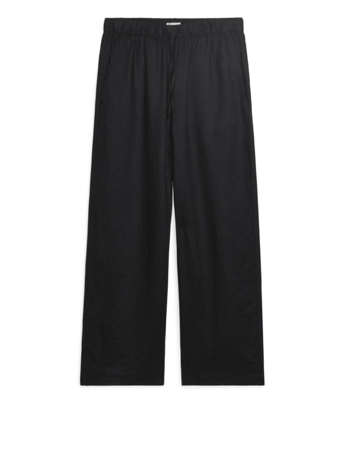 Elastic Waist Linen Trousers