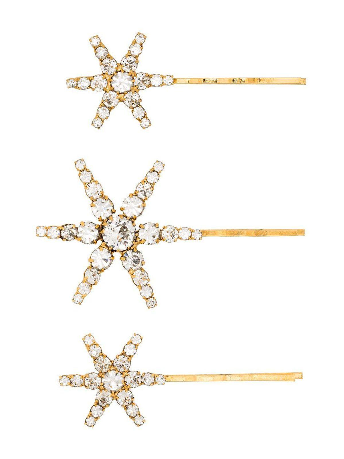 Aurelia Gold-tone Crystal-Embellished Hair Pins