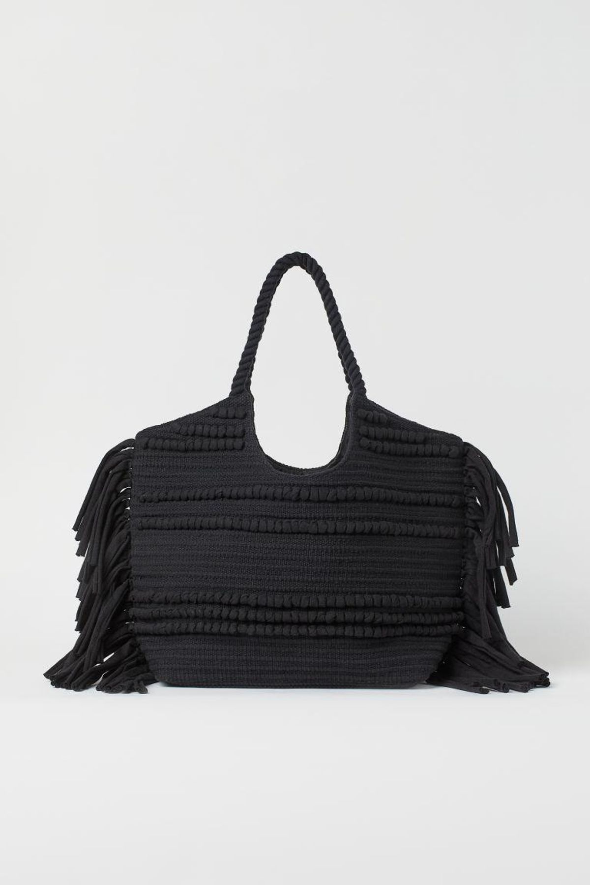h and m fringed shopper