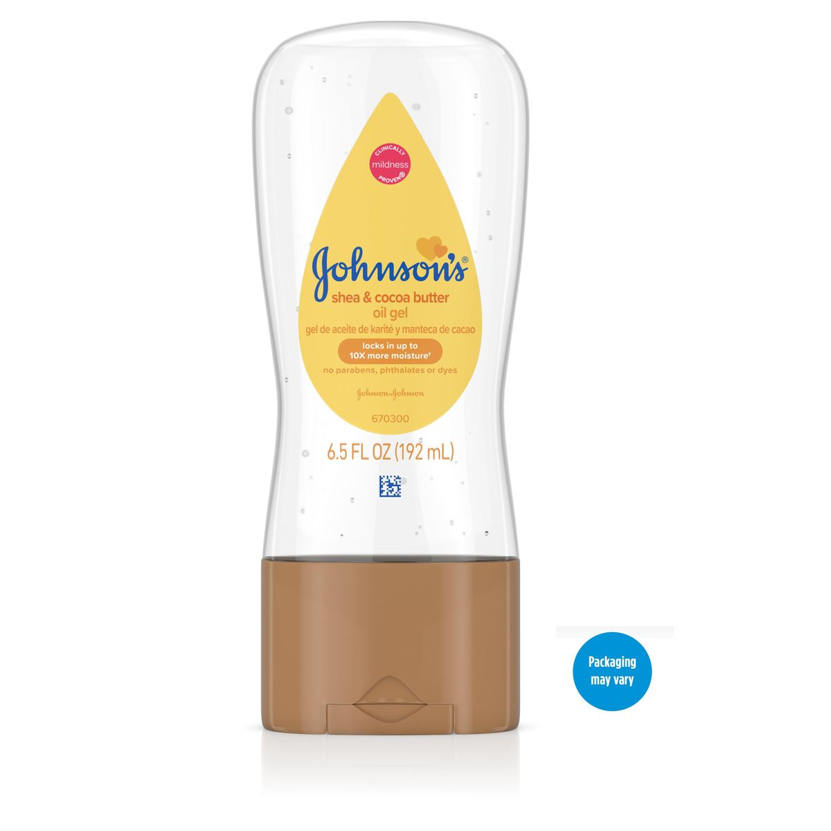 johnson's baby oil gel with shea and cocoa butter
